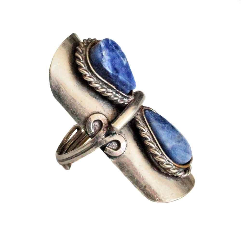 Inka-Products-Bague Pierres Semi-précieuses-Gouttes Bleues Lapis Lazuli-2