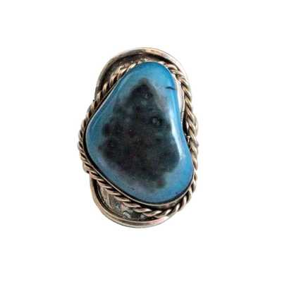 Inka-Products-Bague Pierre Semi-précieuse-Turquoise