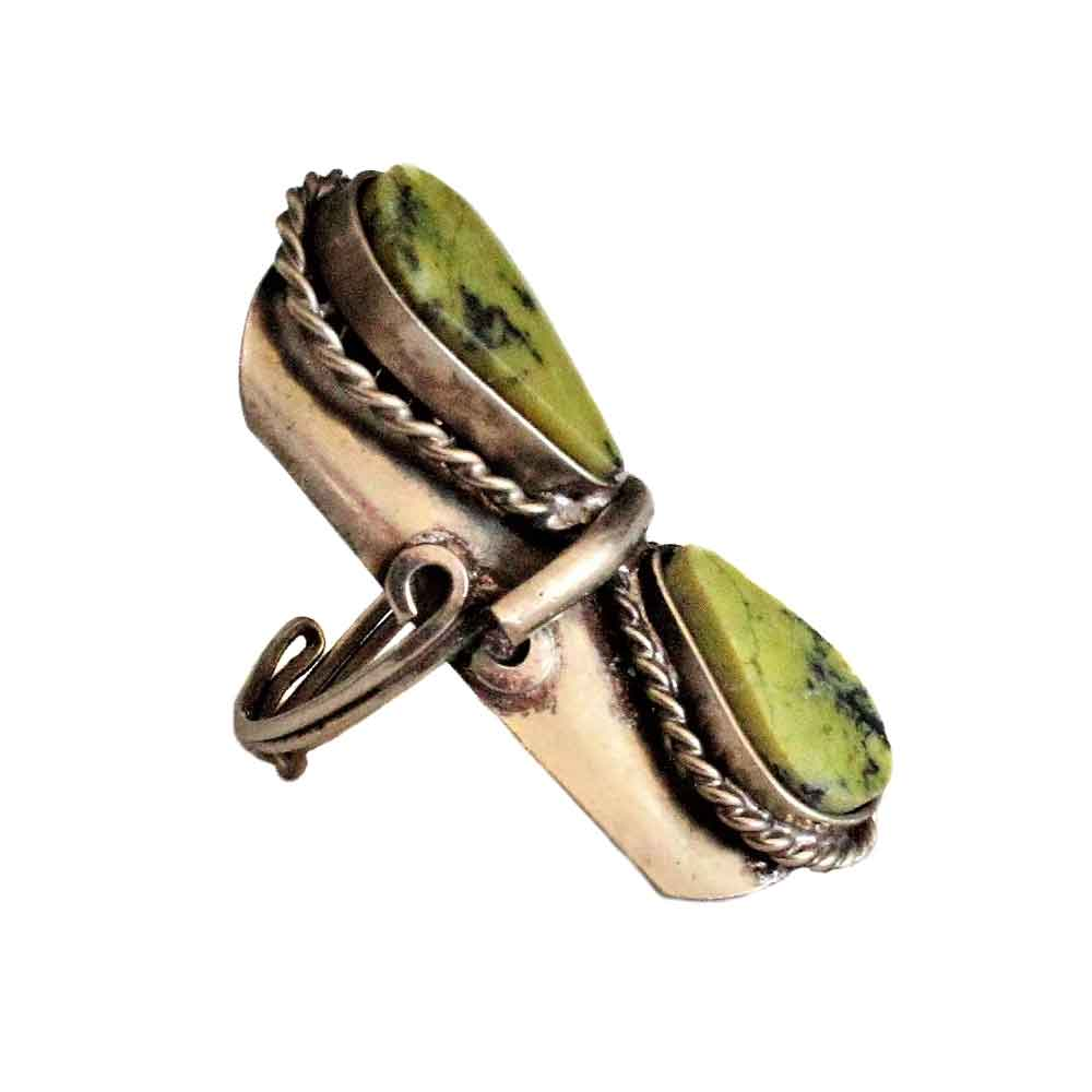 Inka-Products-Bague Pierres Semi-précieuses-Gouttes Serpentine Vert-2
