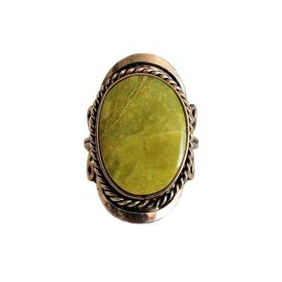 Inka-Products-Bague Pierre Semi-précieuse-Serpentine Vert