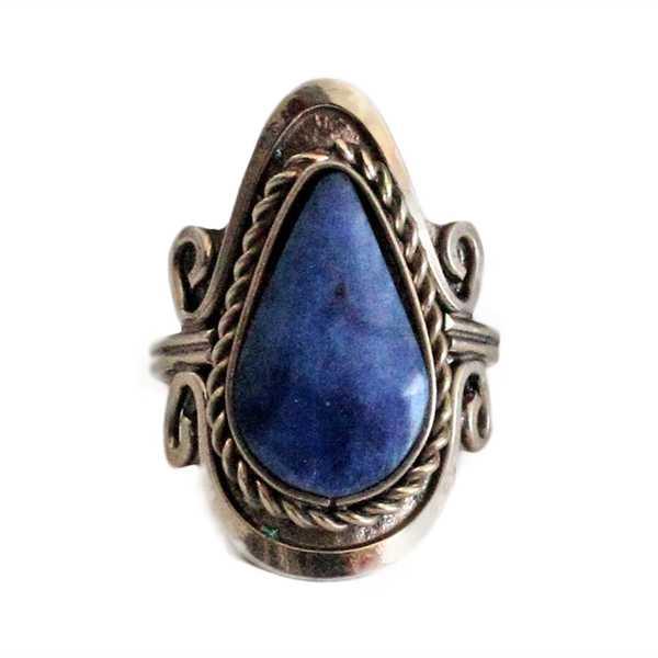 Bague Pierres Semi-précieuses Lapis-lazuli - Inka Products
