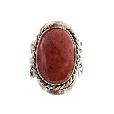Inka-Products-Bague Pierre Semi-précieuse Ovale-Oeil de Tigre