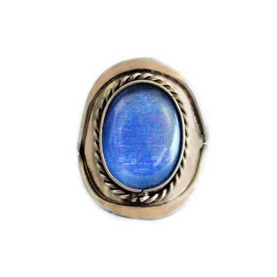 Bague Pierre Semi-précieuse Agate Bleu Ciel - Inka Products
