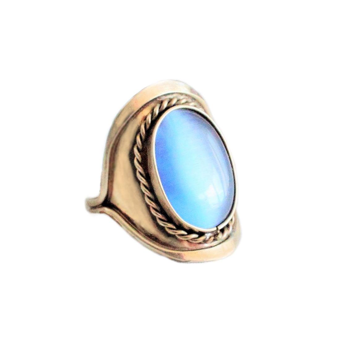 Inka-Products-Bague Pierres Semi-précieuses-Agate Bleue Ciel-2