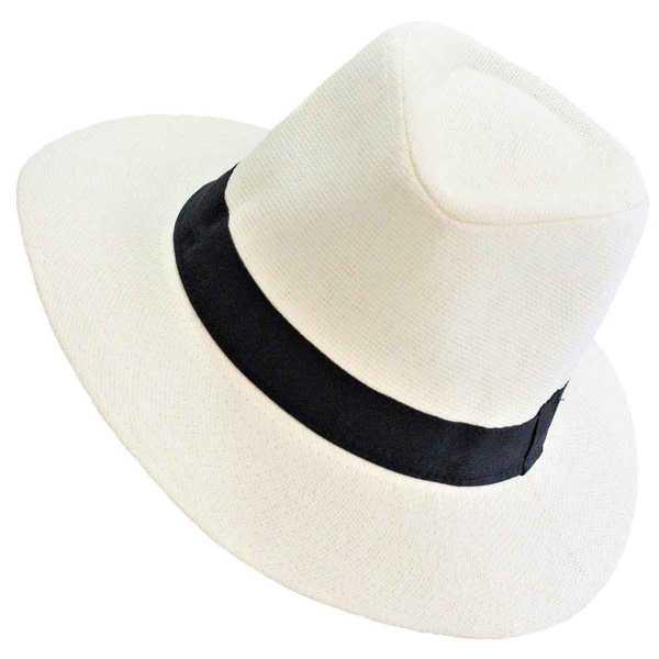 Chapeau TOQUILLA Paille avec Bandeau Noir - Inka Products