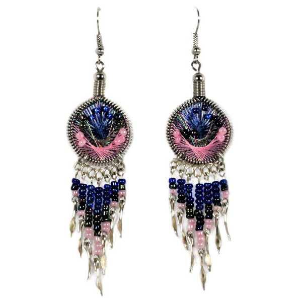 Boucles d'Oreilles Attrape Rêves Perles de Rocailles - Inka Products