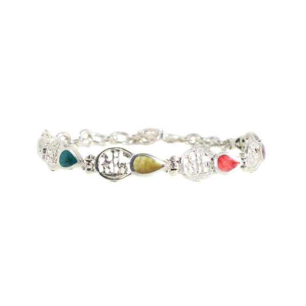 Bracelet en Argent Argent 950ème avec pierres naturelles en forme de goutte - Inka Products