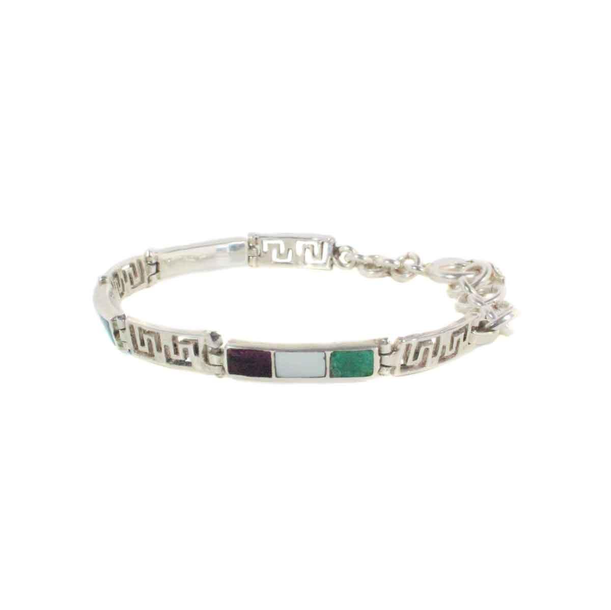 Inka-Products-Bracelet YATI en Argent-Argent 950ème avec pierres naturelles-2