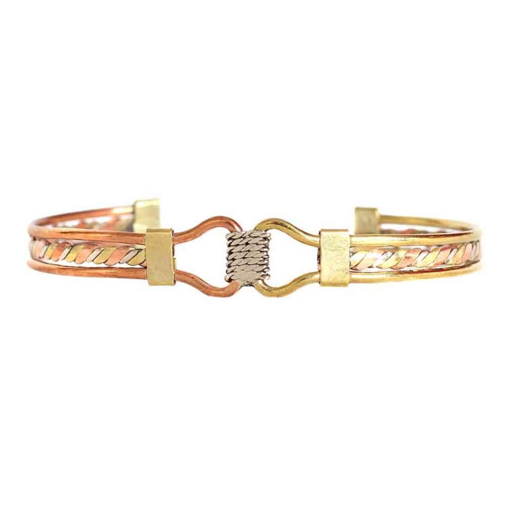 Inka-Products-Bracelet Péruvien ÑAWI-Trois Métaux