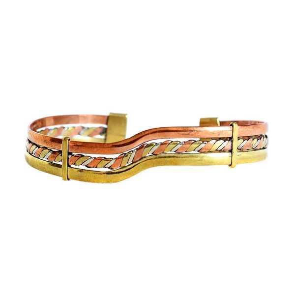 Bracelet Péruvien PATA Trois Métaux - Inka Products