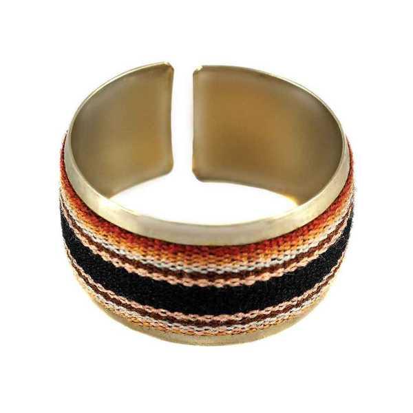 Bracelet Tissu Traditionnel Péruvien Bracelet Nuances de Marron - Inka Products