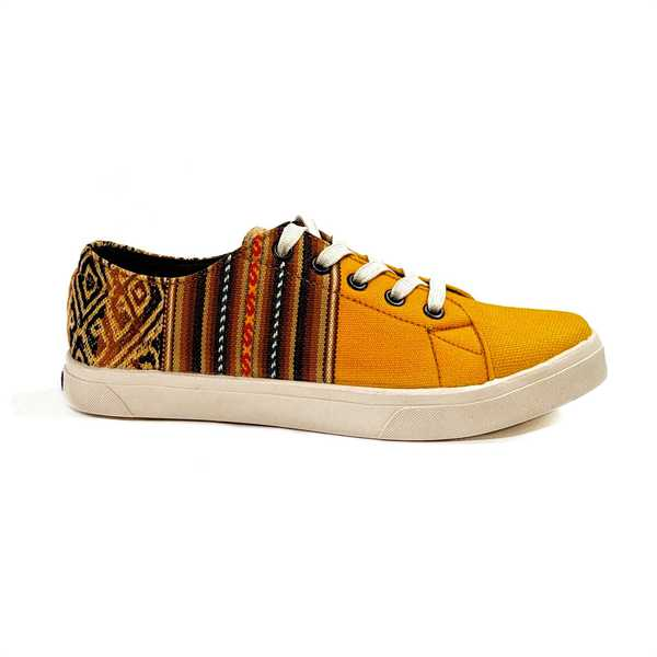 Sneakers Baskets Basses LUCUMA Tissu Péruvien Motif Ethniques Homme-Femme - Inka Products