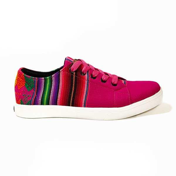 Sneakers Baskets Basses FLOR DE LA CANTUTA Tissu Péruvien Motif Ethniques Homme-Femme - Inka Products