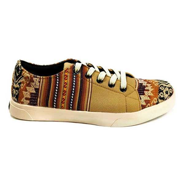 Sneakers Baskets Basses HUACACHINA Tissu Péruvien Motif Ethniques Homme-Femme - Inka Products