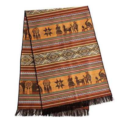 Inka-Products-Chemin de Table Péruvien-Marron ALLIN RURAY