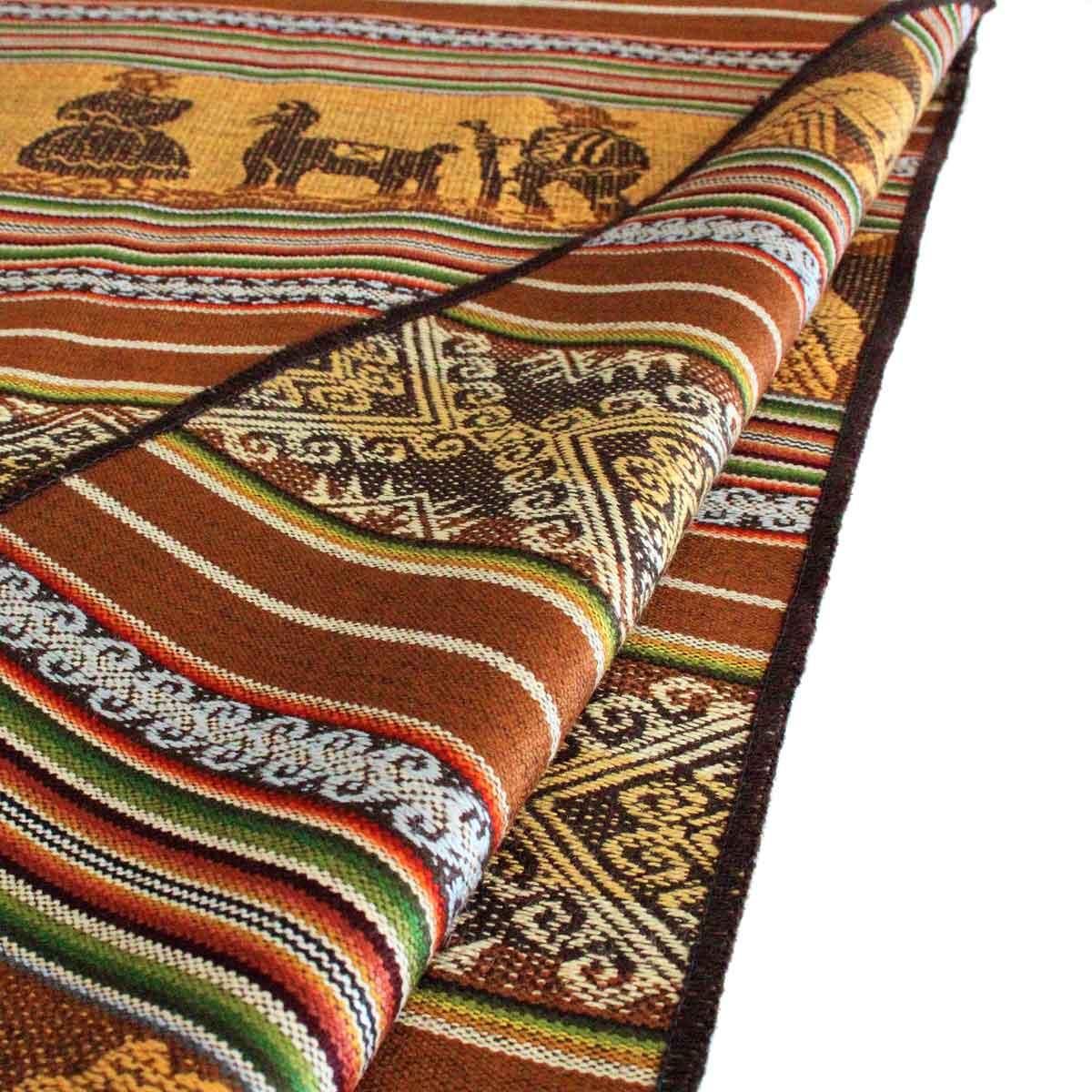Inka-Products-Chemin de Table Péruvien-Marron ALLIN RURAY-2