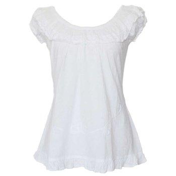 Inka Products Blouse T-shirt à Épaule Dénudée Évasé Coton Péruvien