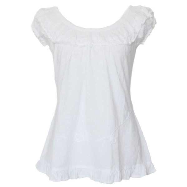 Blouse T-shirt à Épaule Dénudée Évasé Coton Péruvien - Inka Products