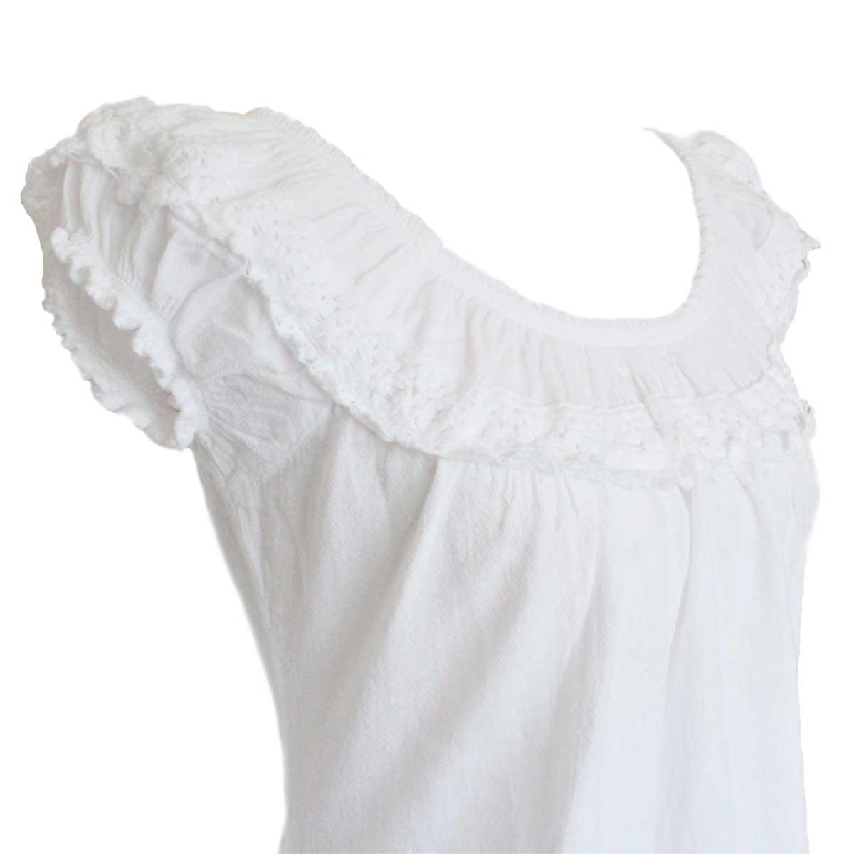 Inka-Products-Blouse T-shirt à Épaule Dénudée-Évasé Coton Péruvien-2