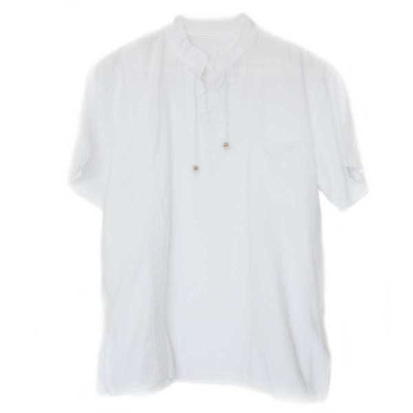 Chemise Col Mao Homme Coton Péruvien - Inka Products