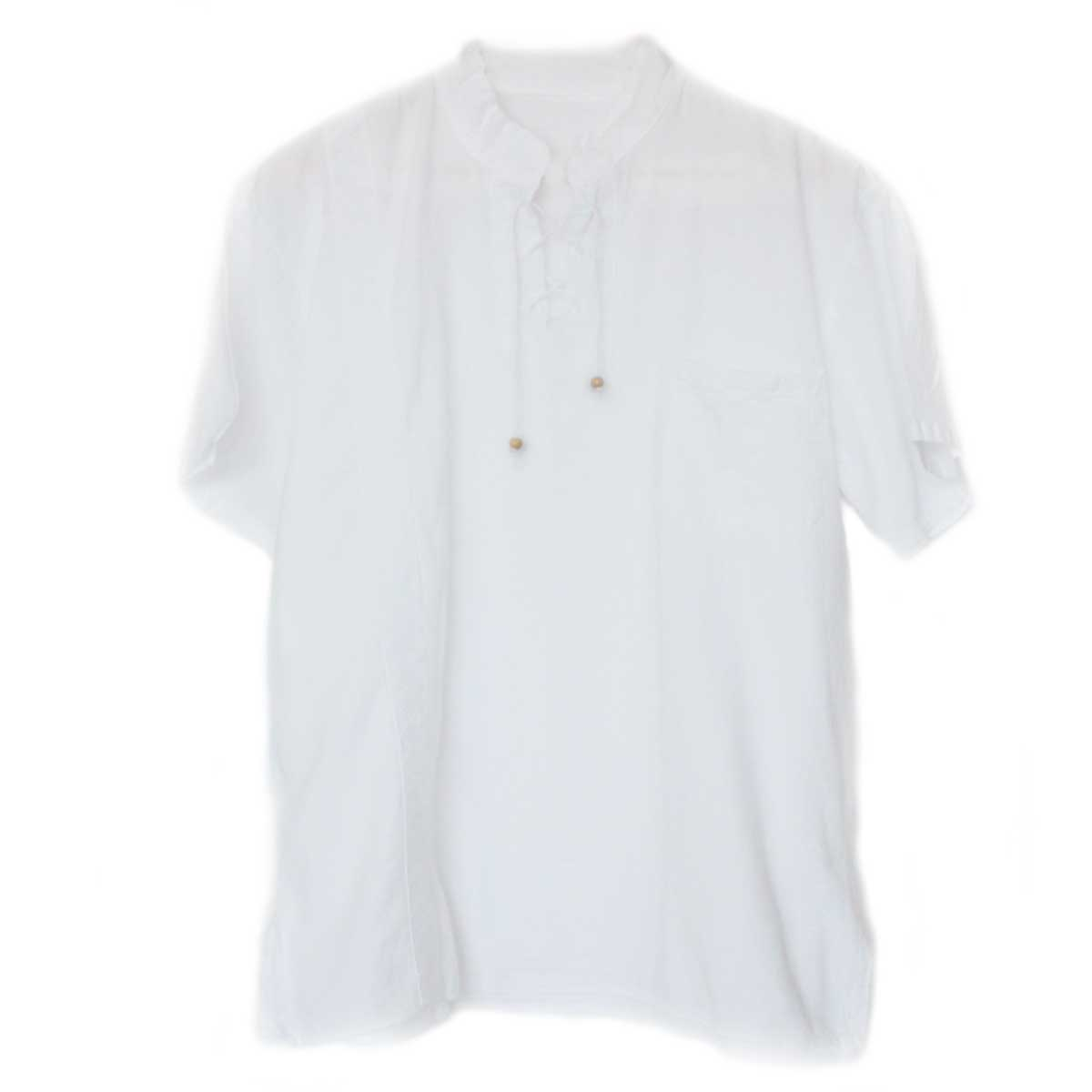 Inka-Products-Chemise Col Mao Homme-Coton Péruvien