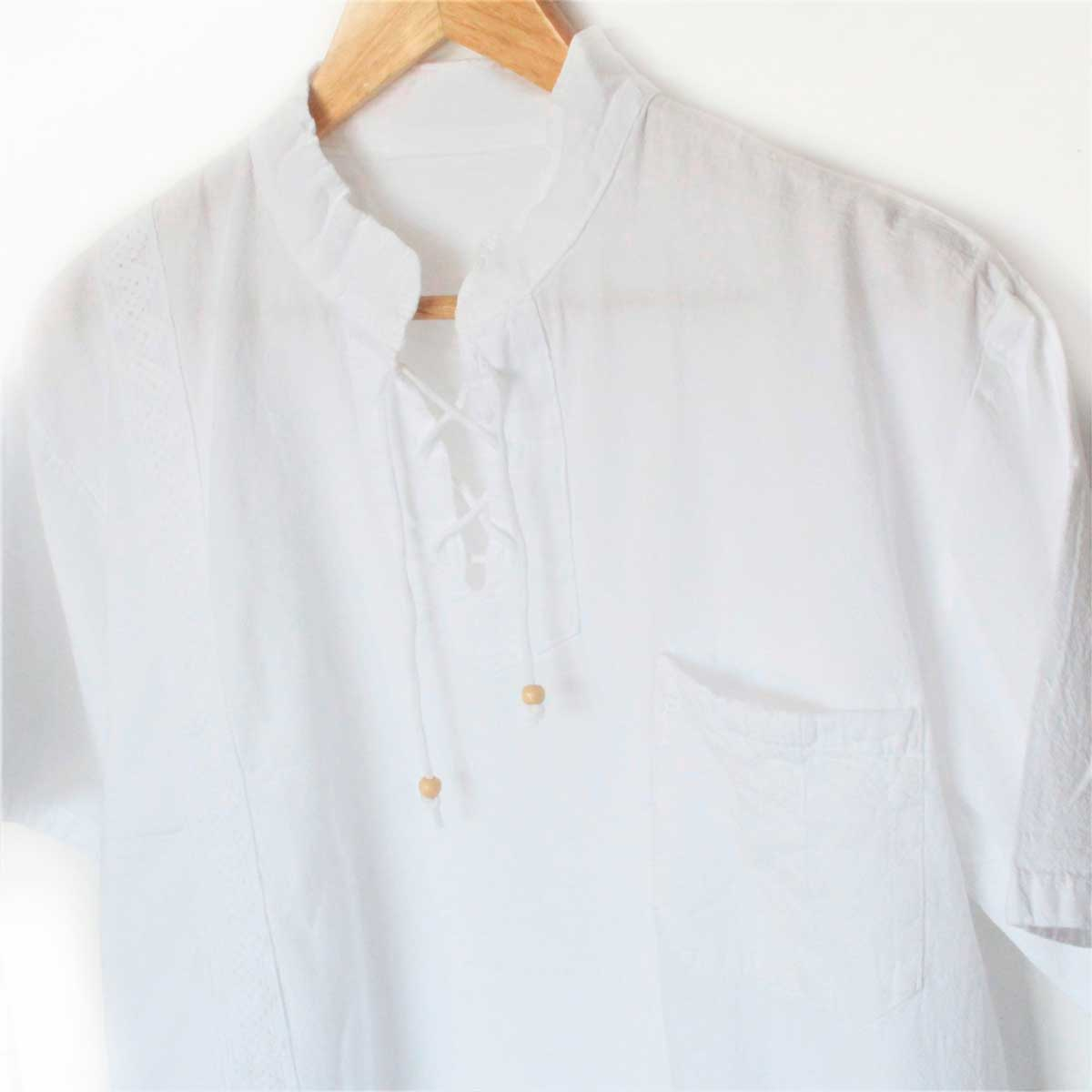 Inka-Products-Chemise Col Mao Homme-Coton Péruvien-2