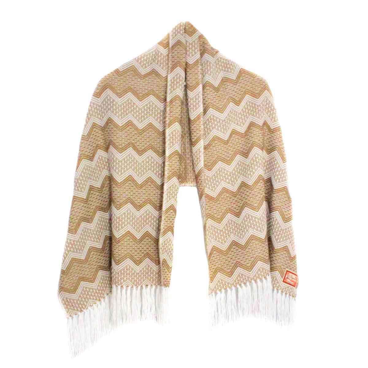 Inka-Products-Châle SAYTU-Beige motifs ethniques-2