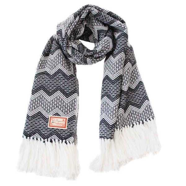 Châle SAYTU Noir motifs ethniques - Inka Products