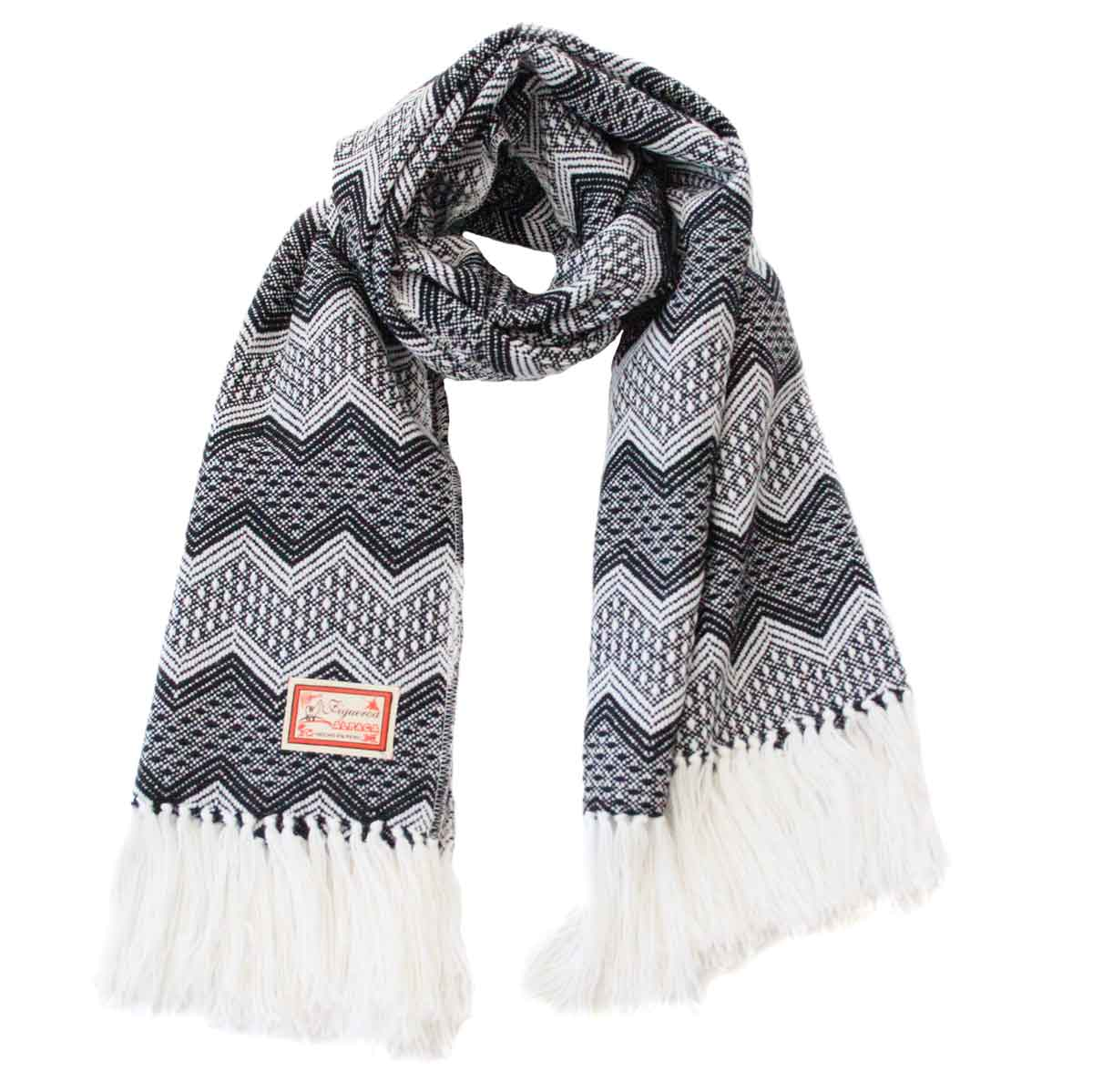 Inka-Products-Châle SAYTU-Noir motifs ethniques