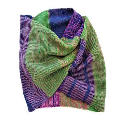 Inka-Products-Écharpe QUMIR-Vert et Violet