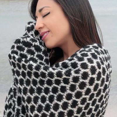 Pashmina en Laine d'Alpaga Alvéole Homme Femme - Inka Products