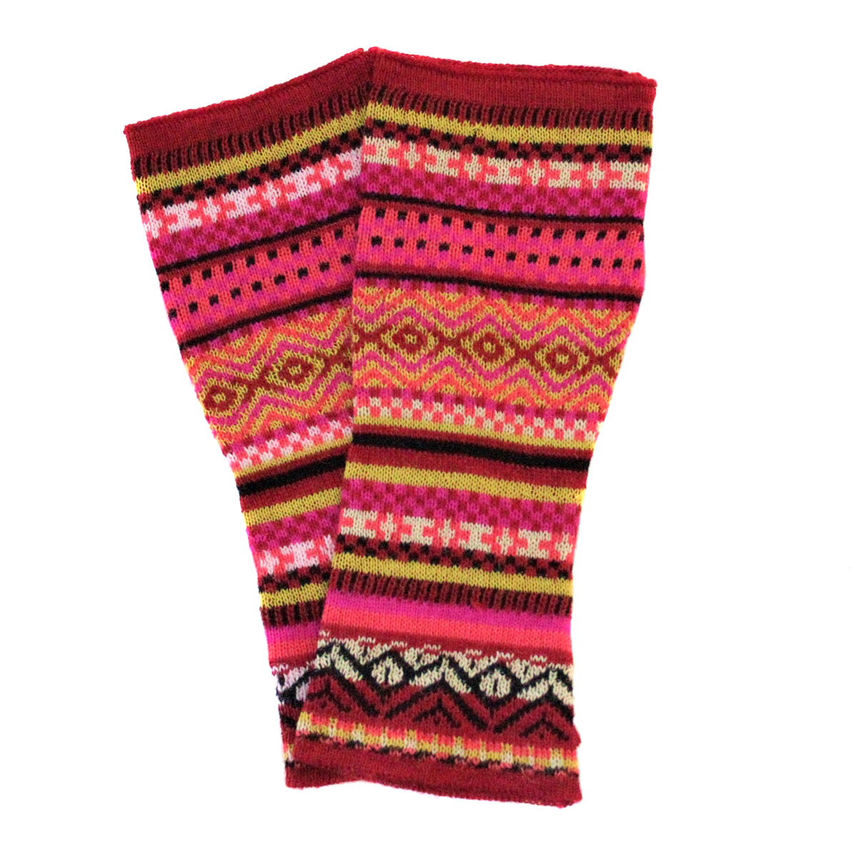 Inka-Products-Mitaines Longues-Colorées Motifs Ethniques