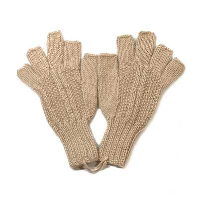 Inka-Products-Gants Mitaines Alpaga Homme-Tissu Tricotés au Pérou
