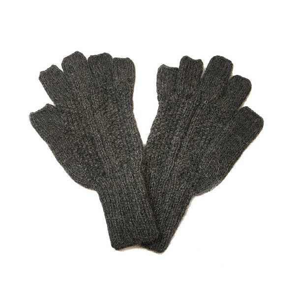 Gants Mitaines Alpaga Homme Tissu Tricotés au Pérou - Inka Products