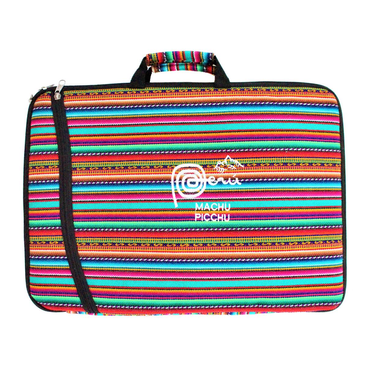 Inka-Products-Housse Ordinateur Portable-Tissu Péruvien Machu Picchu
