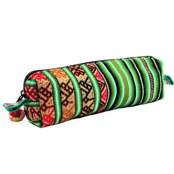 Inka Products Pochette Tissu Péruvien Vert Fait Main
