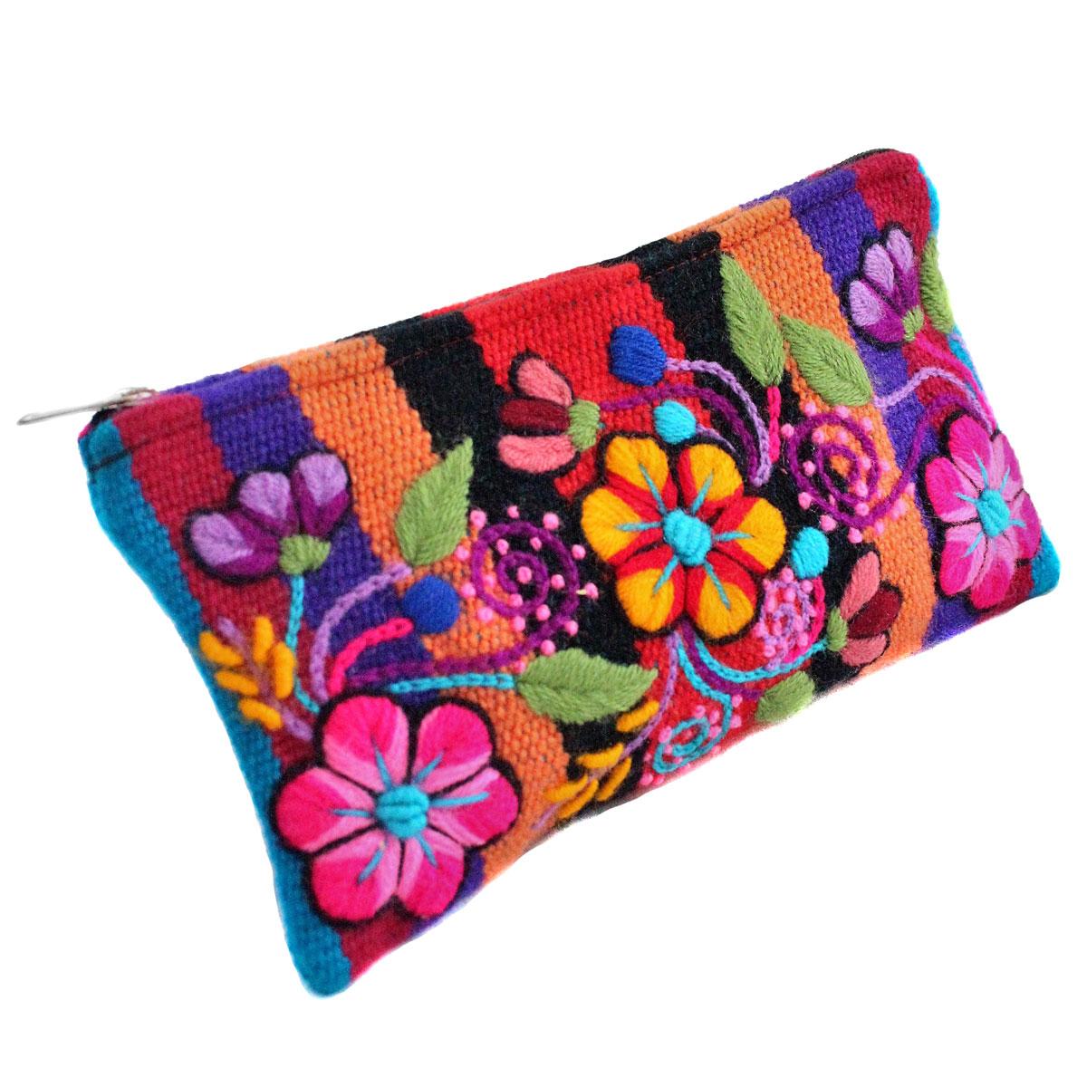 Inka-Products-Trousse Ethnique  RAYMI-Orange Brodé Main-2