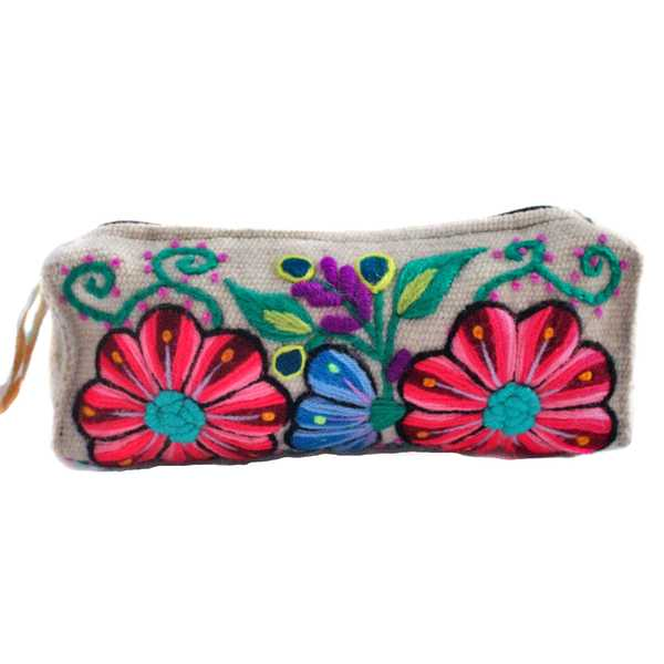 Trousse Ethnique YURIANA Crème Brodé Main - Inka Products