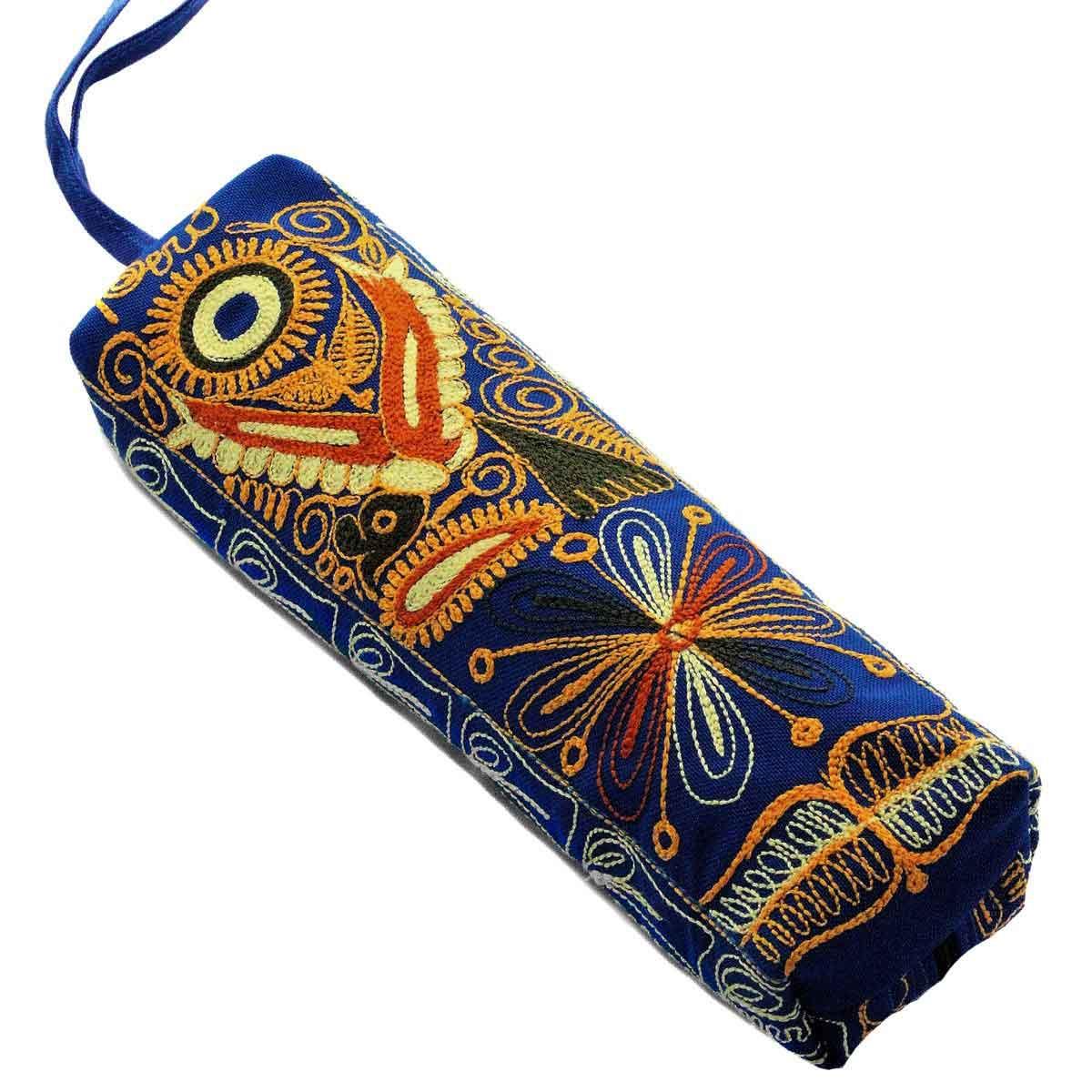 Inka-Products-Trousse Vallée du COLCA-Bleu Motif Oiseaux des Andes