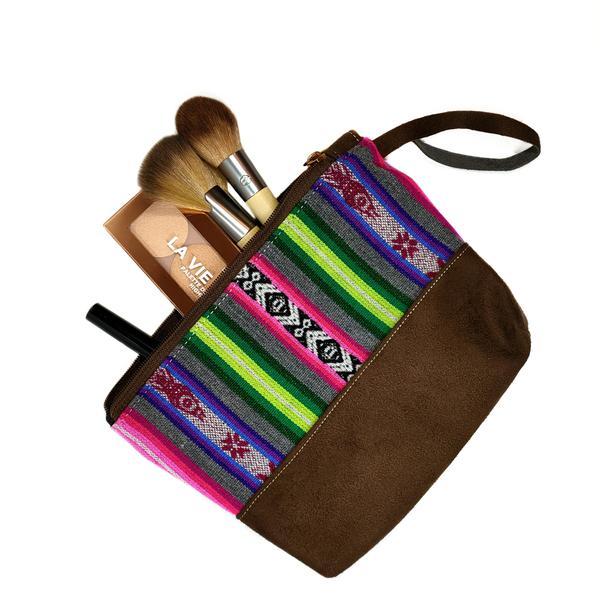 Trousse à Maquillage Toile Inca Artisanal Fait au Pérou - Inka Products