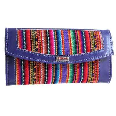 Inka-Products-Portefeuille Péruvien KUYU-Violet Coloré Ethnique