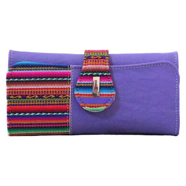 Portefeuille Péruvien TUKTU Violet coloré ethnique - Inka Products