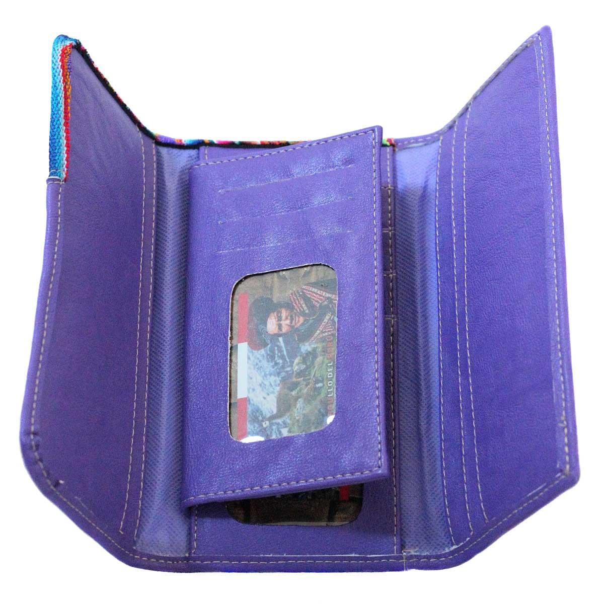 Inka-Products-Portefeuille Péruvien TUKTU-Violet coloré ethnique-2