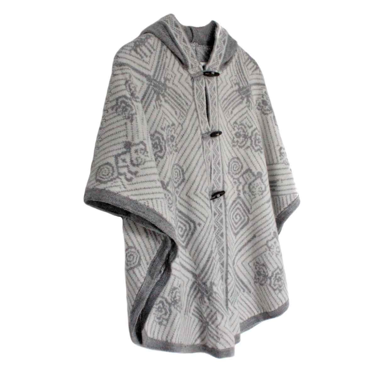 Inka-Products-Cape Alpaga HAPPINA-Blanc Motifs Ethniques-2