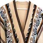 Inka Products Poncho Alpaga JAYWAY Beige Crème Motifs Ethniques