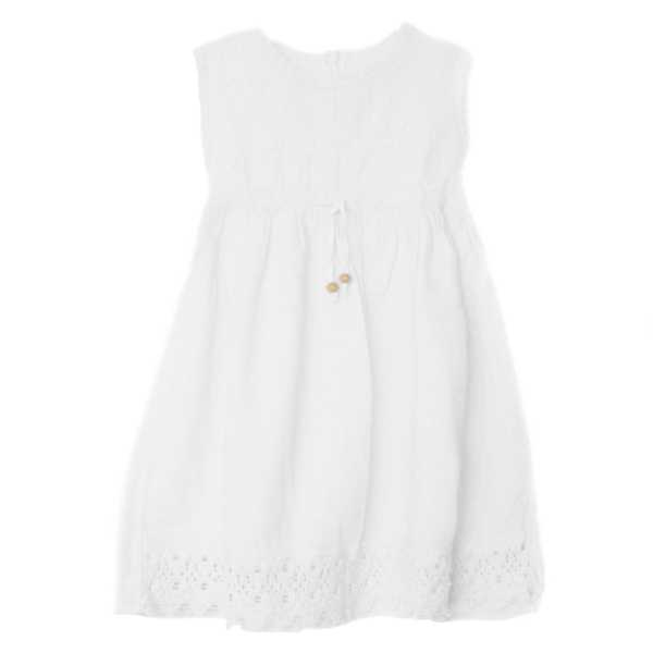 Robe sans manches fille En Coton Broderie Péruvienne - Inka Products