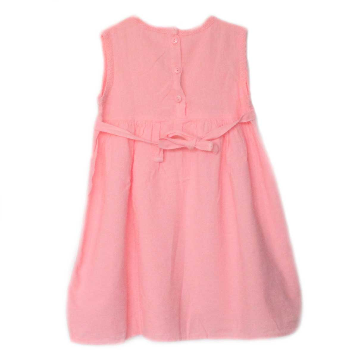 Inka-Products-Robe Sans Manches Fille Rose-En Coton Broderie Péruvienne-2