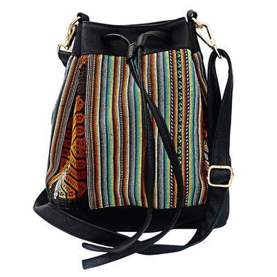Inka-Products-Sac Seau en Bandoulière pour Femme-Tissu Traditionnel Péruvien COROPUNA