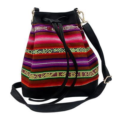 Inka-Products-Sac Seau en Bandoulière pour Femme-Tissu Traditionnel Péruvien PAMPACHIRI