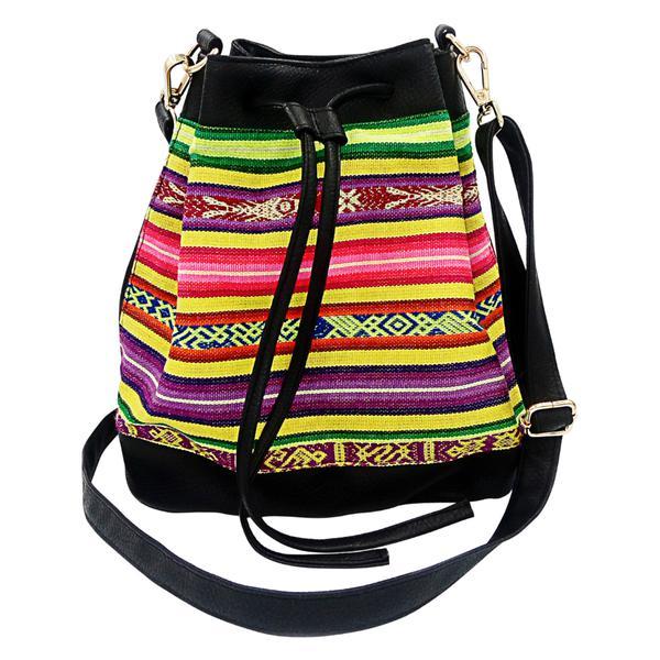 Sac Seau en Bandoulière pour Femme Tissu Traditionnel Péruvien PUCALLPA - Inka Products